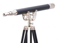 Floor Standing Chrome/Leather Anchormaster Telescope 65\