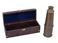 Deluxe Class Antique Brass Admirals Spyglass Telescope 27
