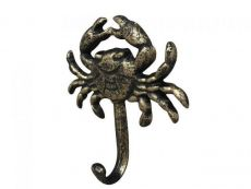 Rustic Gold Cast Iron Wall Mounted Crab Hook 5\