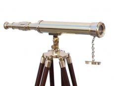 Floor Standing Brass Harbor Master Telescope 50