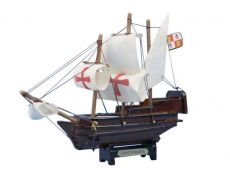 Wooden Santa Maria Tall Model Ship 7\