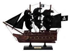 Wooden Captain Hooks Jolly Roger from Peter Pan Black Sails Model Pirate Ship 12