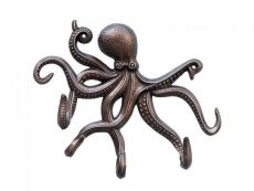 Antique Copper Octopus with Tentacle Hooks 11