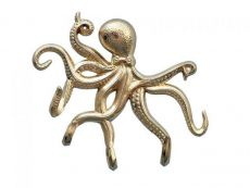 Gold Finish Octopus with Tentacle Hooks 11