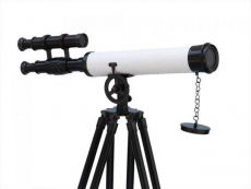 Floor Standing Oil-Rubbed Bronze-White Leather with Black Stand Griffith Astro Telescope 50