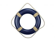 Blue Painted Decorative Life Ring with Rope Bands 20