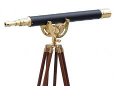 Floor Standing Brass-Leather Anchormaster Telescope 50