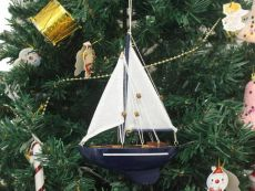 Wooden Gone Sailing Model Sailboat Christmas Tree Ornament