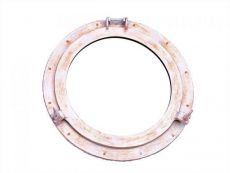 Rustic White Aluminum Deluxe Class Decorative Ship Porthole Mirror 20