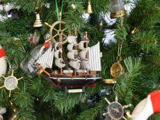 Wooden Cutty Sark Model Ship Christmas Tree Ornament