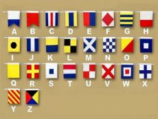 Set of 36 - Decorative Cloth Nautical Alphabet and Number Flags 20\