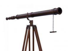 Floor Standing Bronzed Galileo Telescope 65