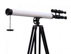 Floor Standing Oil-Rubbed Bronze-White Leather With Black Stand Griffith Astro Telescope 65