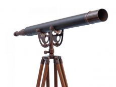 Floor Standing Bronzed With Leather Anchormaster Telescope 65
