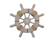 Rustic Decorative Ship Wheel With Starfish 6