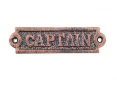 Rustic Copper Cast Iron Captain Sign 6