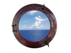 Antique Copper Decorative Ship Porthole Window 20
