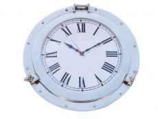 Chrome Decorative Ship Porthole Clock 17