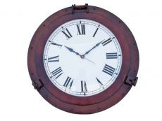 Antique Copper Decorative Ship Porthole Clock 24