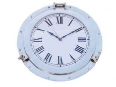 Chrome Decorative Ship Porthole Clock 24