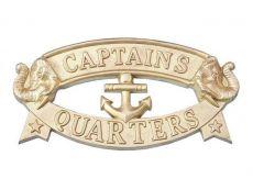 Solid Brass Captains Quarters Sign 9