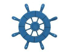 Rustic All Light Blue Decorative Ship Wheel 9\