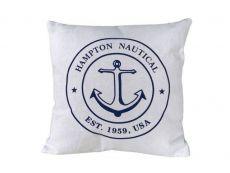 Decorative White Hampton Nautical with Anchor Throw Pillow 16\