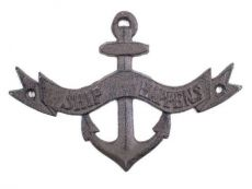 Cast Iron Ship Happens Anchor Sign 8