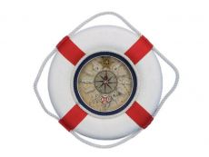 Classic White Decorative Lifering Clock with Red Bands 12\