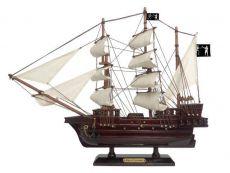 Wooden Black Barts Royal Fortune White Sails Pirate Ship Model 15