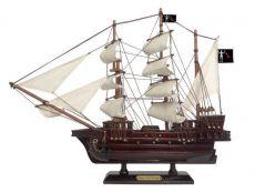 Wooden Blackbeards Queen Annes Revenge White Sails Pirate Ship Model 15