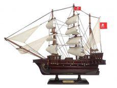 Wooden Henry Averys Fancy White Sails Pirate Ship Model 15