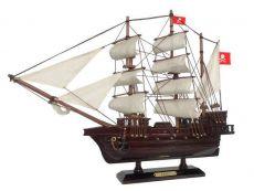 Wooden Henry Averys Fancy White Sails Pirate Ship Model 20