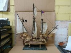 Wooden Caribbean Model Pirate Ship 20\