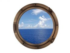 Bronzed Decorative Ship Porthole Window 24