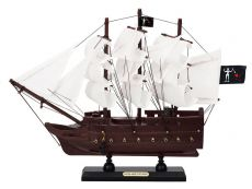 Wooden Blackbeards Queen Annes Revenge White Sails Model Pirate Ship 12
