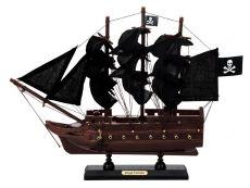 Wooden Black Barts Royal Fortune Black Sails Model Pirate Ship 12