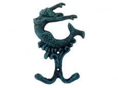 Seaworn Blue Cast Iron Mermaid Key Hook 6