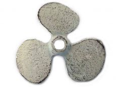 Whitewashed Cast Iron Propeller Paperweight 4