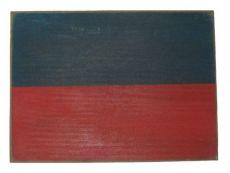 Letter E Rustic Wooden Nautical Alphabet Flag Decoration 16