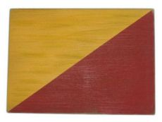 Letter O Rustic Wooden Nautical Alphabet Flag Decoration 16