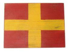 Letter R Rustic Wooden Nautical Alphabet Flag Decoration 16