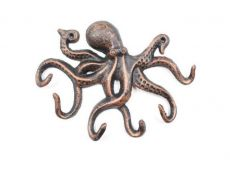 Rustic Copper Cast Iron Octopus Hook 11