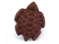 Red Whitewashed Cast Iron Turtle Decorative Napkin Ring 2 - set of 2