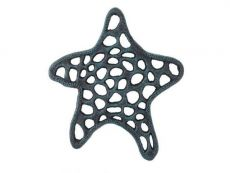 Seaworn Blue Cast Iron Starfish Trivet 7