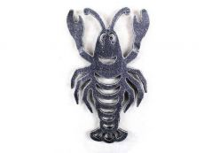 Antique Silver Cast Iron Lobster Trivet 11