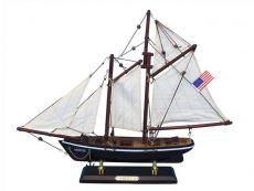 Wooden America Model Sailboat Decoration 16