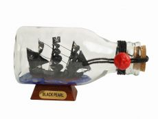 Black Pearl Pirate Ship in a Glass Bottle 5