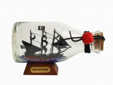 Blackbeards Queen Annes Revenge Pirate Ship in a Glass Bottle 5