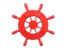 Red Decorative Ship Wheel 9